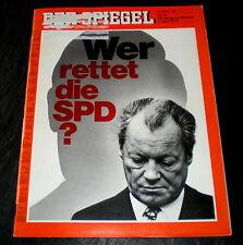 Der Spiegel 14/74 Titelbild: Wer rettet die SPD? -Ohne Willy Brandt sind wir weg