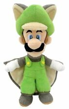 "New Genuine Nintendo 9"" Musasabi Luigi Flying Squirrel Plush Super Mario Doll"