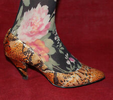 SERVAS Vintage LEDER PUMPS SCHUHE 37 Leather HEELS Snake Python Schlange Animal