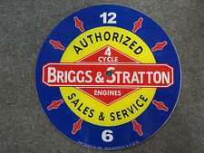 """*NEW*14.25"""" BRIGGS AND STRATTON MOTOR GAS OIL ROUND GLASS FACE FOR PAM CLOCK"""