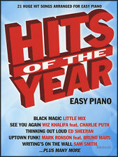 Hits of the year easy piano sheet music book 2015 ed sheeran taylor swift birdy