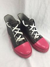 Women's Corkys Rain Boots Ankle Rubber Sneakers Size 8 Brown Pink