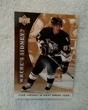 2005/06 U.D. WHERE'S SIDNEY CROSBY ICON RC CARD-EXTREMELY RARE-MINT CONDITION
