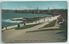 Vintage Postcard.  BANGOR, Co.Down, From Marine Gardens. Used 1919.  Ref:69139