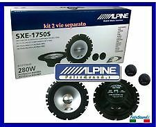 KIT A 2 VIE SEPARATE ALPINE SXE-1750S 3 ANNI GARANZIA EXCELLENT PARTNER new