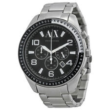 **NEW** MENS ARMANI EXCHANGE AX BLACK SPORTS XL CHRONO WATCH - AX1254 - RRP £139