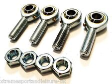 *4 pack M10 MALE KART TRACK ROD ENDS - ROSE JOINTS + LOCKNUTS