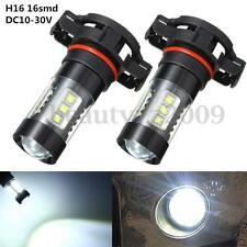 H16 5202 PS24W High Power 80W  DC10-30 White 6000k Fog Light Projector LED Bulb
