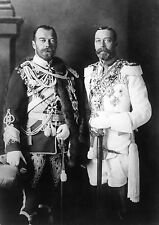 NEW Photo Tsar Czar Nicholas II of Russia  with King George V