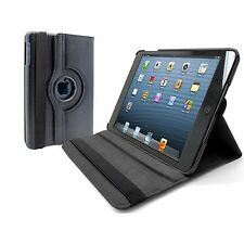 Black PU Leather Rotating Case Stand Holder for iPad Mini 1 2 3 -SCREENZIES -