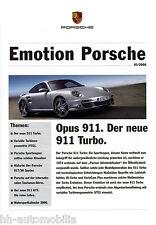 Prospekt Emotion Porsche 1/06 (d) brochure 911 turbo VTG gt3 917/30 Spyder