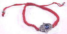 Hamsa Judaica Bracelet Evil Eye Charm Kabbalah Hand Red