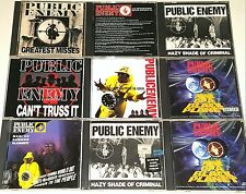 PUBLIC ENEMY 9  CD LOT IMPORT SEALED DEF JAM Chuck D Rap krsone wu tang lp 12""