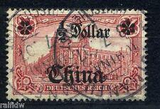 DP China 1/2 $ Aufdruck 1905 Aufdruckfehler Michel 34 B I geprüft (S7868)
