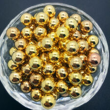 DIY 50Pcs 8mm Nonporous Acrylic Round Pearl Spacer Loose Beads Jewelry Making*4