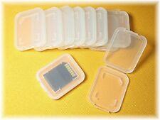 8 x SD SDHC MMC Astuccio Guscio CARD Scheda di memoria Case Box chiaro trasparente