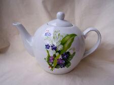 * Tea for two *  Teekanne mit  Veilchen und Maiglöckchen aus Porzellan