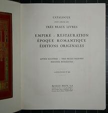 Catalogue d`un choix de trés beaux livres. Maggs. London. 1938.