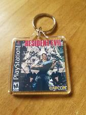RESIDENT EVIL PLAYSTATION psx retro  KEYRING gaming ps1
