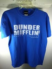 M royal blue T-Shirt THE OFFICE dunder mifflin PAPER COMPANY tv show NBC comedy