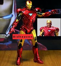 18 Cm Superhero Avengers Iron Man 3 Tonny Mark 42 PVC Action Figure Toy 8''