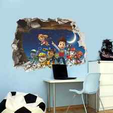 Paw Patrol Pared Adhesivo Guardería, Niño, Marshall, Rubble, Rocky, Chase, Skye