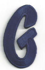 "SCRIPT LETTERS  - Navy Blue Script  2"" Letter ""G"" - Iron On Embroidered Applique"