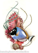 WALL ART -  SURGEONFISH METAL WALL SCULPTURE - FISH SCULPTURE - NAUTICAL DECOR