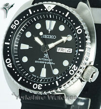 New SEIKO PROSPEX TURTLE DIVER BLACK FACE WITH STAINLESS STEEL BRACELET SRP777J1