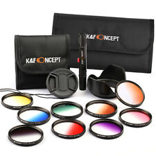 K&F Concept 52mm Graduated Color Lens Filter Kit Set For Nikon D3100 D3200 D5200