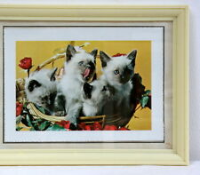 Cadre photo vintage chatons 1950