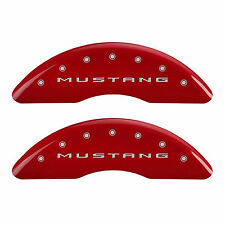 MGP 2015 Ford Mustang Bar & Pony Caliper Covers Front Rear Red 10201SMB2RD