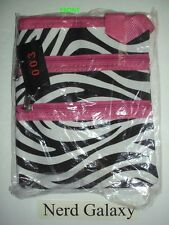 Zebra Print Pink Passport Crossbody Messenger Bag, NEW! SALE!