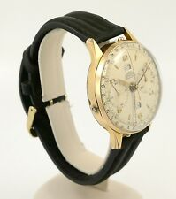 Vintage 1950s Angleus Chronodato Chronograph Watch w/ Triple Date - 38mm