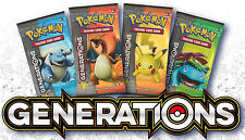 Pokemon Generations Booster Packs (x4) - Charizard, Venusaur, Blastoise, Pikachu