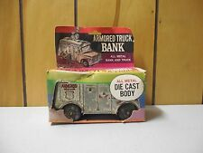 Callen Armored Truck Bank with secret panel, die cast, in box, vintage