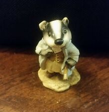 Wee Forest Folk WW-2 Badger 1981  from WIND IN THE WILLOWS  Annette Peterson