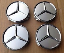 4x 75mm Center Hubcap Hub Cap Caps MB Emblem Wheel Cover for Mercedes Benz AMG