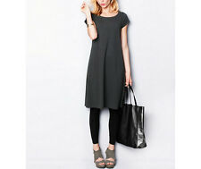 NEW - Eileen Fisher Organic Cotton Ballet-Neck Dress -PM