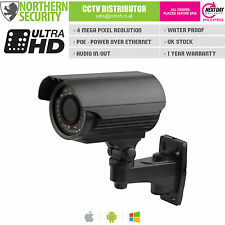 4MP 2.8-12mm 1080P ONVIF P2P 40m BLACK BULLET POE AUDIO VIDEOCAMERA IP esterna CCTV