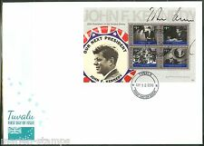 TUVALU 2010 50TH INAUGURAL ANNIVERSARY JOHN F. KENNEDY SHEET FIRST DAY COVER