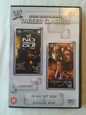 WWE Tagged Classics - No Way Out & Backlash 2000 DVD WWF Rare