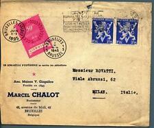 BELGIO/BELGIUM - Lettera per Milano, affrancato per 3,50 fr.