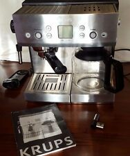 Krups XP2280 10 Cups Coffee & 1 Or 2 Cup Espresso Combo Tamp Technology Silver