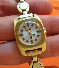 SERVICED VINTAGE 2210 ACCUTRON GOLD ELECTROPLATE TUNING FORK LADY'S WATCH N4
