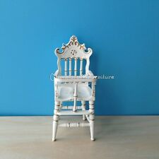 1 Inch Scale Dollhouse Miniature Furniture Handcrafted Wood High Chair Nursery