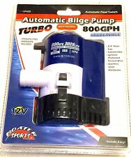 AUTOMATIC FLOAT SWITCH BILGE PUMP 800 GPH-3028 L/HR, BOATER SPORTS 57422