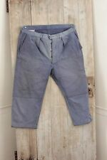 Vintage French work wear chore pants clothes blue farmers  trousers 42 workwear