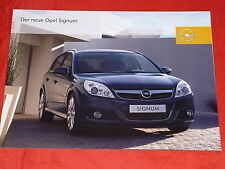 Opel Signum base Edition sport Cosmo folleto de 2005