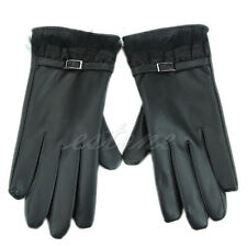 Elegant Lady Women's Winter Warm Faux Leather Touch Screen Gloves For Phone New